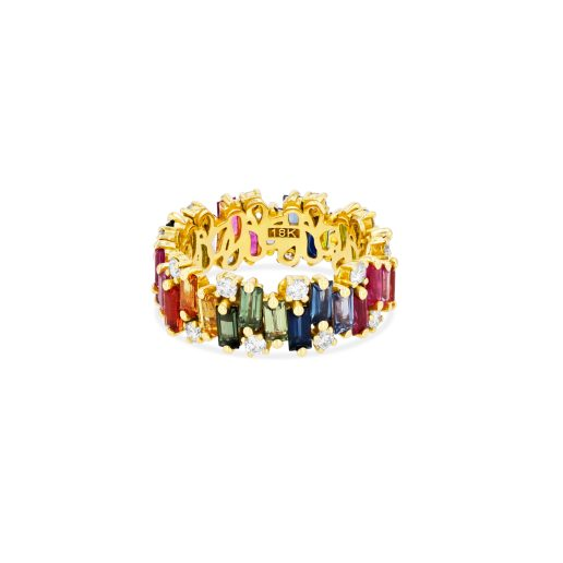 SUZANNE KALAN - AUDREY RAINBOW RING 18kt YELLOW GOLD