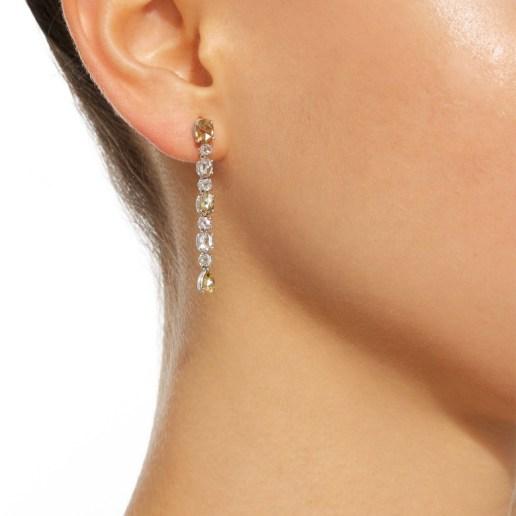 BAYCO - NATURAL COLORED ROSE-CUT DIAMOND EARRINGS