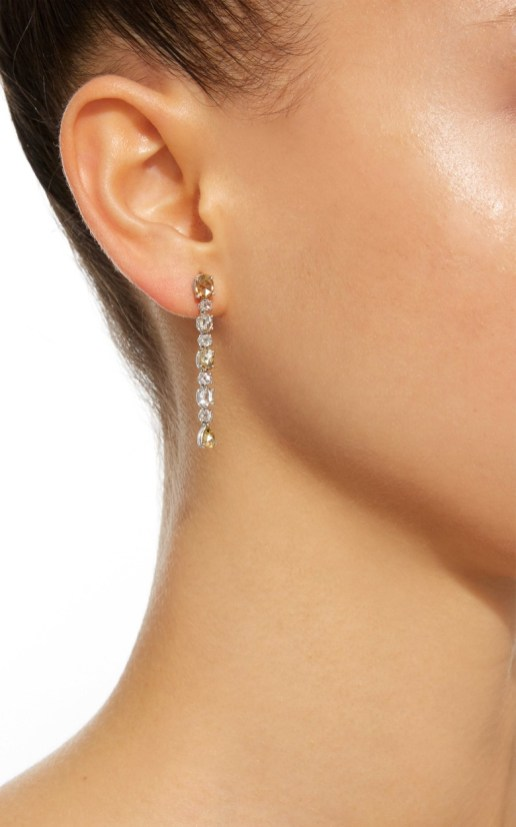 BAYCO - NATURAL COLORED ROSE-CUT DIAMOND EARRINGS