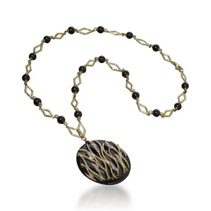 """FIAMMA"" NECKLACE ONYX"