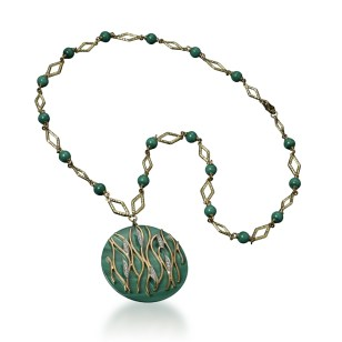 """FIAMMA"" NECKLACE MALACHITE"