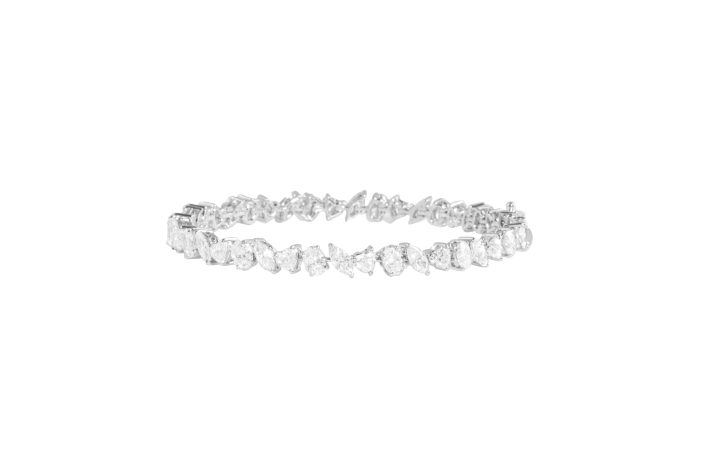 KAMYEN - FANCY SHAPE DIAMOND TENNIS BRACELET IN WHITE GOLD