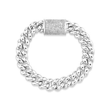 SHAY JEWELRY - LINK BRACELET WITH PAVE DIAMOND CLASP