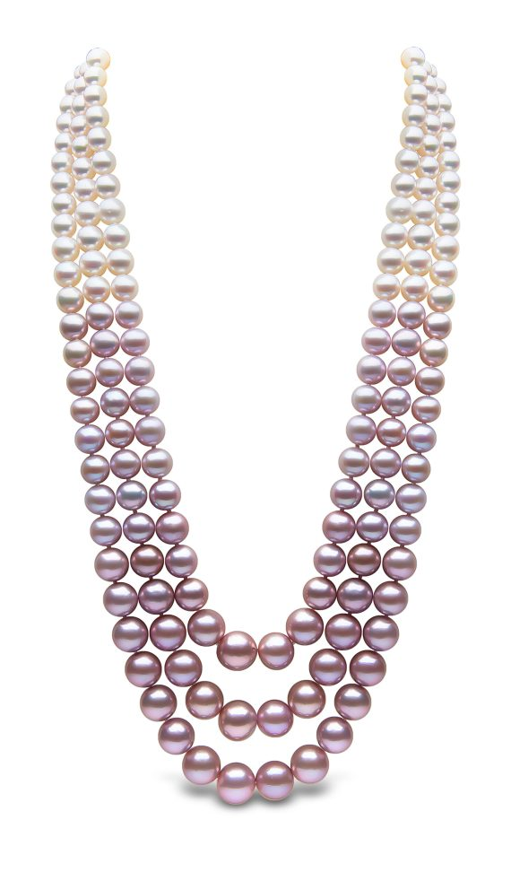 YOKO LONDON - OMBRÉ FRESHWATER & AKOYA PEARL NECKLACE