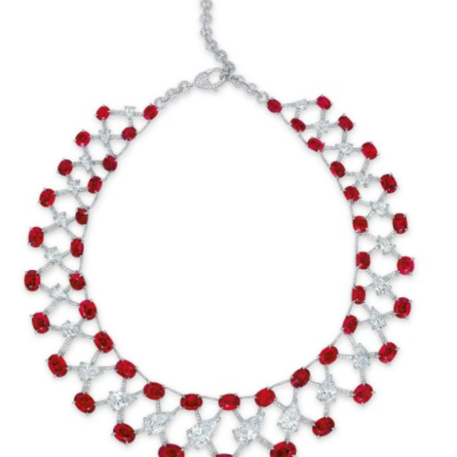 Magnificent Ruby & Diamond Necklace by Etcetera