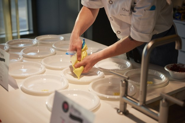 Trademark Tarts dessert Justin Burke-Samson pastry chef prep