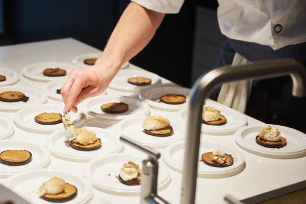 reinvented s'mores Trademark Tarts dessert Justin Burke-Samson pastry chef prep