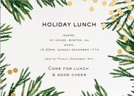 simple holiday party with paperless post