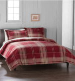 Red Plaid Duvet Cover