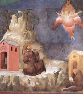 St. Francis's vision of a seraph, fresco by Giotto; in the Basilica of San Francesco, Assisi, Italy Source: Encyclopedia Britannica