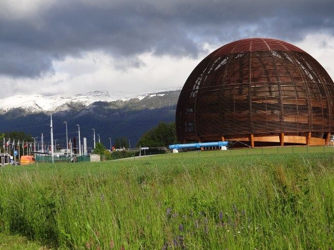 The CERN globe. Photo: PK Read
