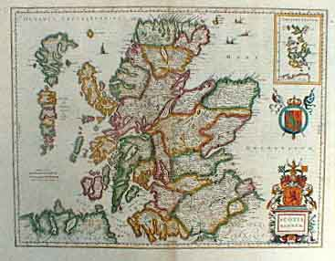 Old Map of Scotland 1650 Source: Virtual Hebrides