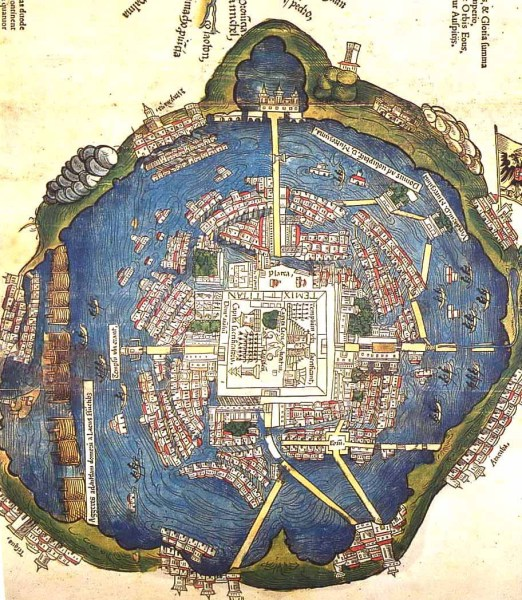 Tenochtitlan on Lake Texcoco Source: Tectonica