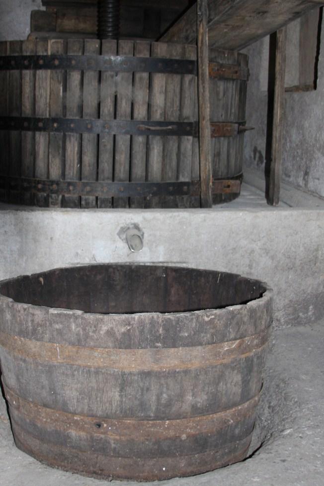 The catchment vat. Photo: PK Read