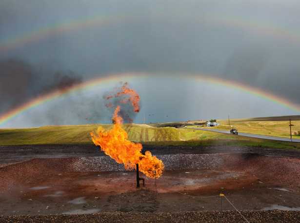 A fracking well at the surface. Photo: Eugene Richards/National Geographic