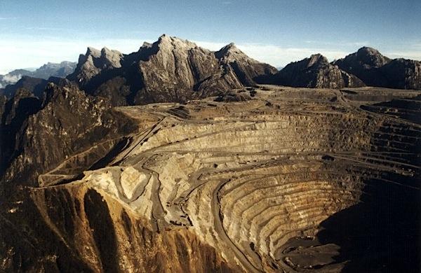 View of the Grasberg mine. Source: Mine.com
