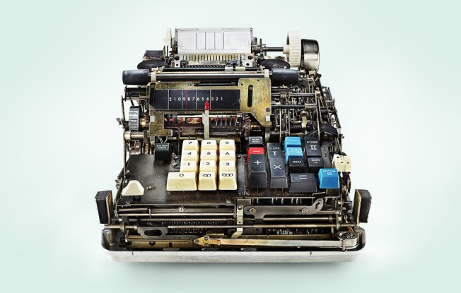 Old adding machine. Photo: Kevin Twomey