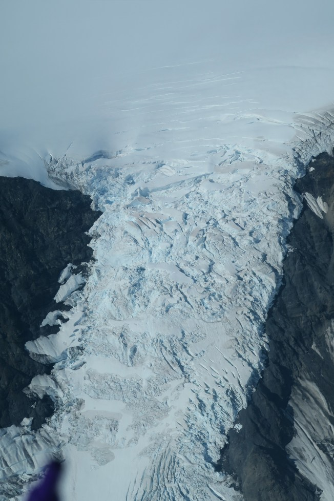 A waterfall of glacial ice.