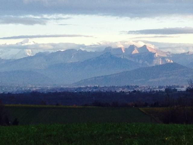Alps across Lake Geneva, before their winter coat.