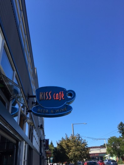 Kiss Café with a misleadingly coffee-oriented sign. All photos: PKR