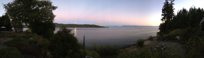 Moonrise seen from the Sooke Harbour House. Photo: Peter Skillman