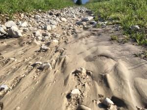 erosion, running, water, thunderstorms, summer