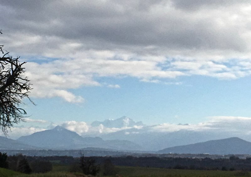 Mont Blanc and clouds, France