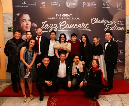 with all the people who took such good care of me in Mongolia!