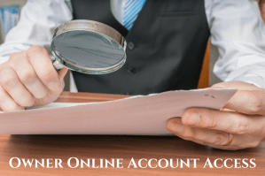 Owner Online Account Access for rental property in championsgate