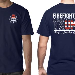 Trump firefighter keep american great t-shirt - GST