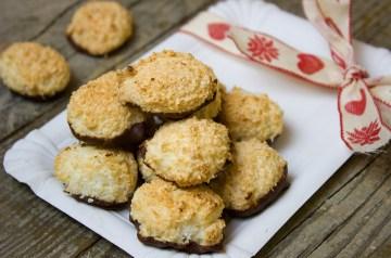 Coconut Cherry Chocolate Kiss Cookies
