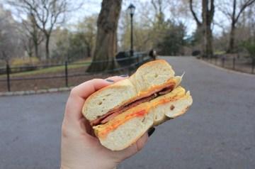 Mc Donald's Breakfast Bagel Sandwich (Steak)
