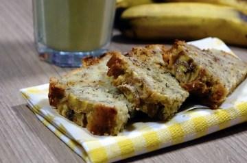 Low Fat Banana Peach Snack Cake