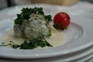 Spinach Stuffed Chicken Breasts With Cheese-Tarragon  Sauce
