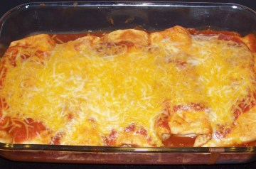 Healthy Beef and Bean Enchiladas