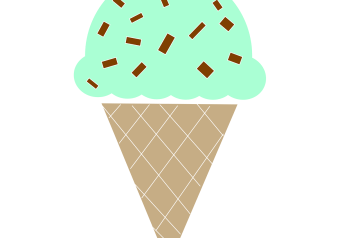 """Dairy and Egg Free Mint and Carob Chip """"ice Cream"""""""