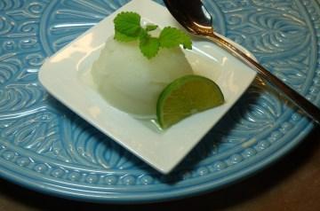 Easy Coconut Lime Sorbet