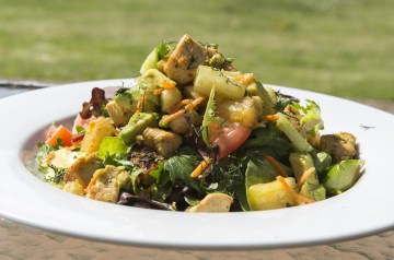 Tropical Romaine Salad With Pineapple Vinaigrette