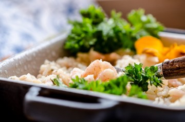 Shrimp and Goat Cheese Risotto