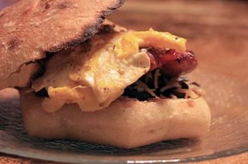 Hot and Crusty Shrimp Sandwich