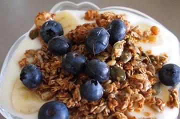 A Breakfast Yogurt Parfait (Granola)