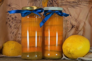 Canned Sugared Lemon Slices in Syrup