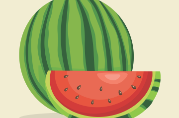 Red and Yellow Watermelon Salad
