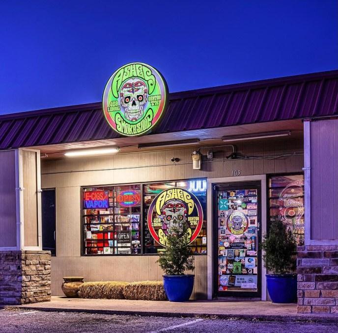 Ashes Smoke Shop Exterior
