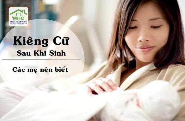 cham soc suc khoe sau sinh nhung dieu kieng cu