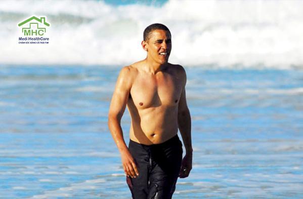 tong thong obama tap luyen the thao suc khoe cham soc suc khoe tai nha hcm  5 bí quyết tập luyện và giữ gìn sức khỏe của Tổng thống Obama tong thong obama tap luyen the thao suc khoe