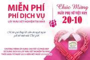 Miễn phí phí dịch vụ xét nghiệm máu tại nhà nhân ngày Phụ Nữ Việt Nam