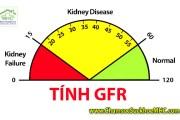 Tính GFR - Tính mức lọc máu cầu thận