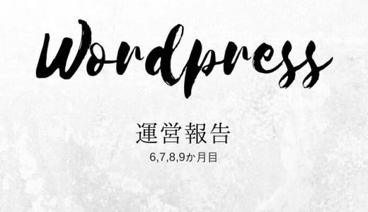 WordPressブログ運営6~9か月目PV報告!初収益&スポンサー就任!