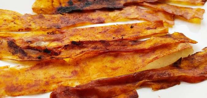 bacon végétal feuille de riz